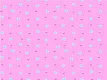 Картина мини сердца безшовная Иллюстрация вектора