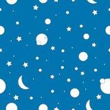 Картина милого космоса звезды безшовная Стоковые Изображения