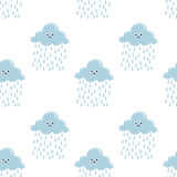Картина милого облака безшовная Стоковые Изображения