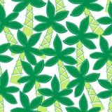 Картина милой тропической вышивки пальм безшовная иллюстрация вектора