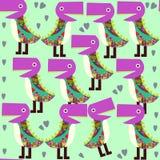 Картина милых животных безшовная с извергами и безшовная скороговорка иллюстрация вектора