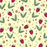 Картина милых колокольчиков безшовная Предпосылка год сбора винограда желтая Стоковые Изображения RF