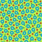 Картина милых красочных цветков вектора безшовная Стоковые Изображения