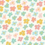 Картина милых маленьких цветков безшовная также вектор иллюстрации притяжки corel Стоковая Фотография