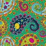 Картина милых цветков Пейсли безшовная Стоковые Изображения RF