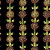 Картина мозаики акварели безшовная флористическая Стоковые Изображения