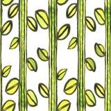 Картина мозаики акварели безшовная флористическая Стоковые Изображения RF