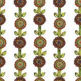 Картина мозаики акварели безшовная флористическая Стоковое Фото