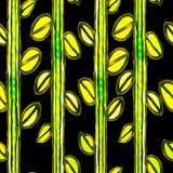 Картина мозаики акварели безшовная флористическая Стоковые Фотографии RF