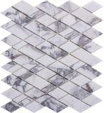 Картина мозаики безшовного белого ретро стиля ромбовидная мраморная Стоковое Фото