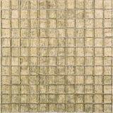 Картина мозаики безшовного золота ретро квадратная стеклянная золотистая мозаика Стоковое Изображение RF