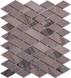 Картина мозаики безшовного коричневого ретро стиля ромбовидная мраморная Стоковое фото RF