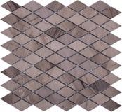 Картина мозаики безшовного коричневого ретро стиля ромбовидная мраморная Стоковые Фото