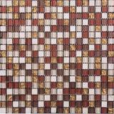 Картина мозаики безшовного ретро квадрата стиля стеклянная Стоковые Фото