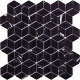 Картина мозаики безшовного черного ретро стиля ромбовидная мраморная Стоковые Фото