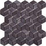 Картина мозаики безшовного черного ретро стиля ромбовидная мраморная Стоковое Изображение