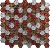 Картина мозаики безшовного шестиугольника ретро роскошная стеклянная Стоковое Фото