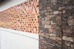 Картина стены мозаики и гранита Стоковое фото RF