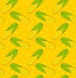 Картина мозоли безшовная Предпосылка маиса бесконечная, текстура Vegetable фон также вектор иллюстрации притяжки corel Стоковые Изображения RF