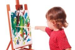 картина мольберта ребенка Стоковое Фото