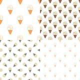 Картина мороженого безшовная в современном годе сбора винограда Стоковое Фото