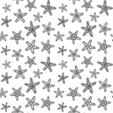 Картина морских звезд безшовная Стоковое Изображение RF