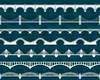 Картина моста вектора безшовная Иллюстрация вектора