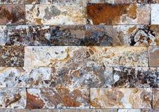Картина мраморных каменных декоративных текстуры и предпосылки кирпичной стены Стоковое Фото