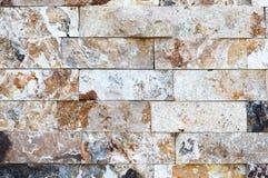 Картина мраморных каменных декоративных текстуры и предпосылки кирпичной стены Стоковое фото RF