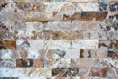Картина мраморных каменных декоративных текстуры и предпосылки кирпичной стены Стоковое Изображение RF