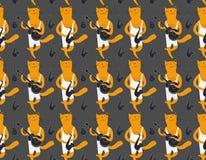 Картина музыкантов котов Тип шаржа Стоковые Изображения RF
