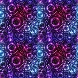 Картина мухы точки влияния круга звезды безшовная Стоковая Фотография