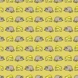 Картина мыши безшовная Стоковые Изображения