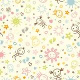 Картина младенца безшовная Стоковое Фото