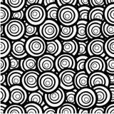 Картина нарисованная рукой безшовная с кругами Стоковые Изображения