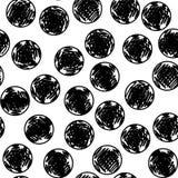Картина нарисованная рукой безшовная с кругами Стоковое фото RF