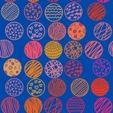 Картина нарисованная рукой безшовная с кругами Стоковое Изображение RF