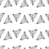 Картина нарисованная рукой безшовная с необыкновенными треугольниками Стоковая Фотография