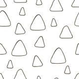 Картина нарисованная рукой безшовная с треугольниками Стоковое Изображение RF