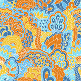 Картина нарисованная рукой безшовная с флористическими элементами Стоковые Изображения RF