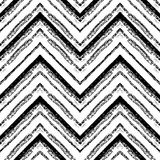 Картина нарисованная рукой племенная Зигзаг и линия нашивки Стоковые Фото