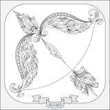 Картина нарисованная рукой для Стрелца зодиака книжка-раскраски бесплатная иллюстрация