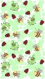 картина насекомого безшовная Иллюстрация штока