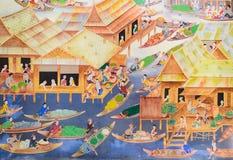 картина настенной росписи тайская Стоковое Изображение RF
