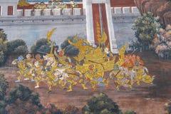 картина настенной росписи тайская Стоковое фото RF