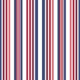 Картина нашивок ретро стиля цвета США безшовная Абстрактный вектор Стоковые Изображения RF