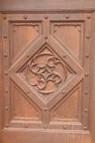 Картина на деревянной двери Стоковые Фото