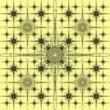 картина на желтой предпосылке Стоковая Фотография