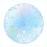 Картина на окне в 2016 Новых Годах Стоковые Фотографии RF