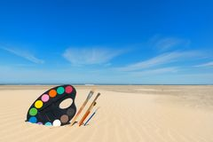 Картина на пляже Стоковые Фото